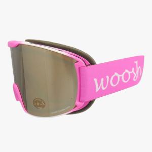 damskie google narciarskie różowe woosh