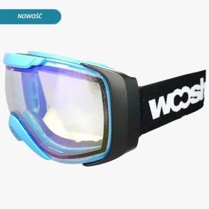 niebieskie gogle narciarskie i snowboardowe Woosh
